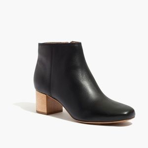 Madewell. Lucien Boot. Black Leather.